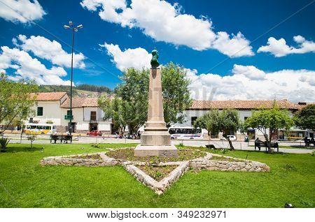 Cusco , Peru- Jan 9, 2019: Beautiful  San Francisco Square in Cusco , Peru.