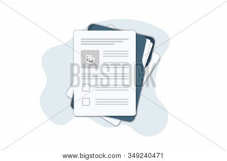 Contract Papers. Document. Folder With Stamp And Text. Contract Signing. Contract Agreement Memorand