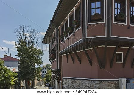Houses And Streets In Old Town Of City Of Plovdiv, Bulgaria