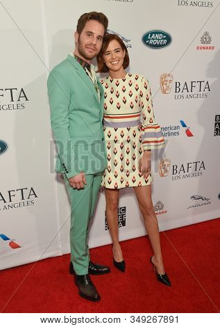 LOS ANGELES - JAN 04:  Ben Platt and Zoey Deutch arrives for the The BAFTA Los Angeles Tea Party 2020 on January 04, 2020 in Los Angeles, CA