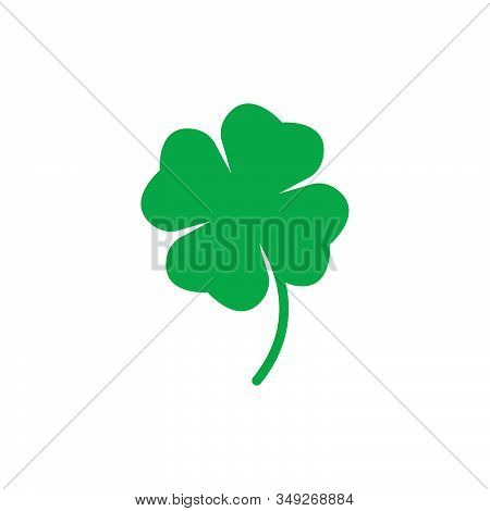 Four Leaf Clover Icon Vector, St Patricks Day Vector.