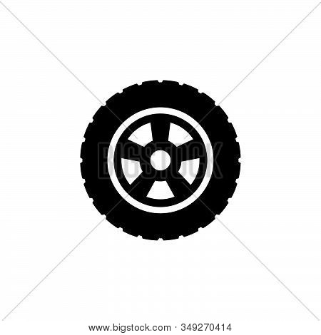 Tire Icon Logo Design. Simple Flat Vector Illustration