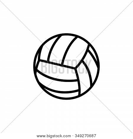 Volley Ball Icon Logo Design. Simple Flat Vector Illustration