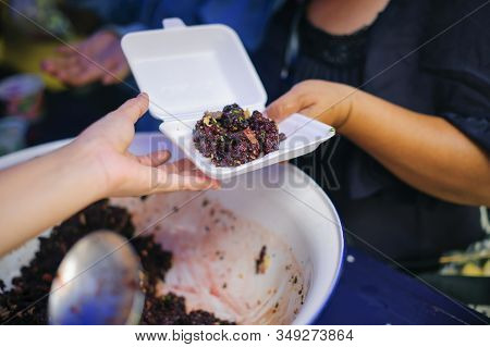 Feeding The Poor To Hands Of A Beggar : Concept Of Famine And Social Inequality : Feeding Food For B