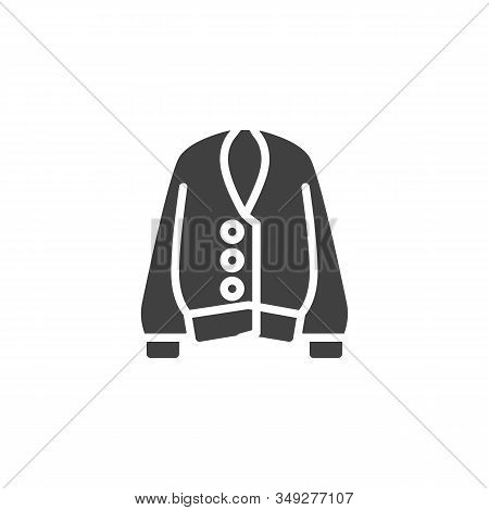 Female Sweater Vector Icon. Unisex Clothing Filled Flat Sign For Mobile Concept And Web Design. Long