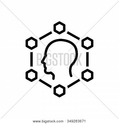 Black Line Icon For Planning Smart-ideas Creative Innovation Invention Inspiration Inventiveness Bra