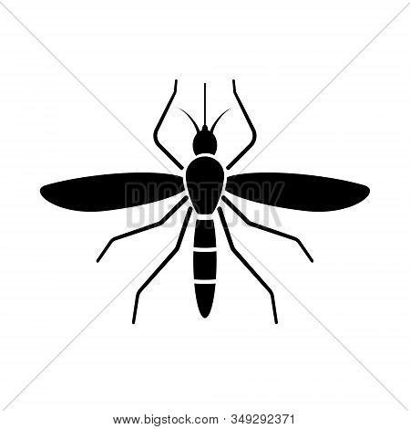 Mosquito Sign Icon Isolated Vector Illustration . Template For Your Design