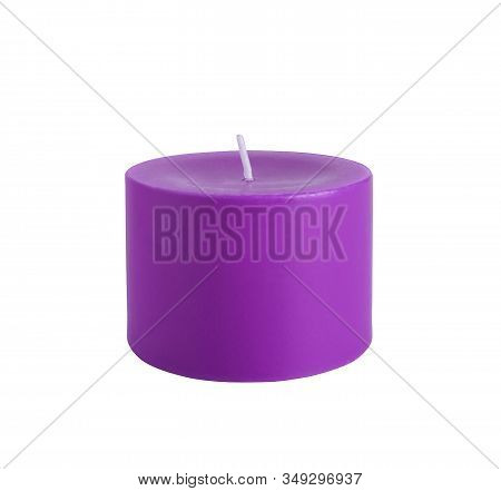 Beautiful Colorful Candle Isolated On A White Background