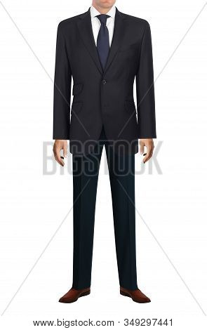 Well-dressed Man In Suit And Tie Isolated On White Background