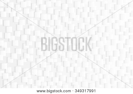 Abstract Gradient Gray And White Square Pattern Of Futuristic Design Decorative Background. Decorate