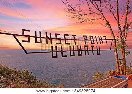Uluwatu sunset point on the westcoast in Bali Indonesia