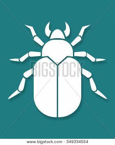 Vector Bug Icon. Software Bug Or Program Bug Line Art Vector Icon For Apps And Websites. Vector Viru