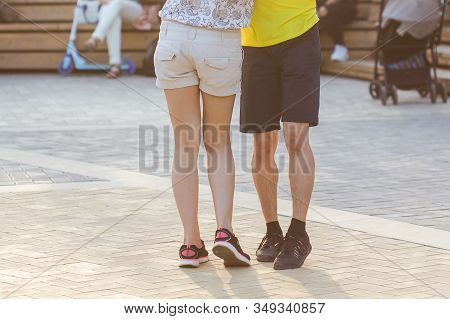 Kizomba, Bachata Or Salsa Concept - Beauty Couple Dancing Social Dance On Open Air Party.
