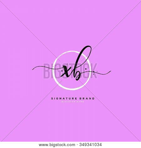X B Xb Initial Letter Handwriting And  Signature Logo. A Concept Handwriting Initial Logo With Templ