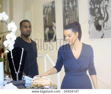 WEST HOLLYWOOD - JUL 13: Kim Kardashian, Kanye West at the opening of the new Dash store on July 13, 2012 in West Hollywood, California