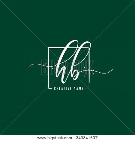 H B Hb Initial Letter Handwriting And  Signature Logo. A Concept Handwriting Initial Logo With Templ