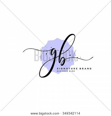 G B Gb Initial Letter Handwriting And  Signature Logo. A Concept Handwriting Initial Logo With Templ