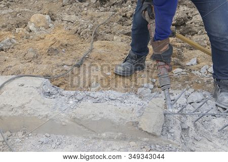 Concrete Extraction  Road And Cement Repair Work Causing Dust Size Of 2.5 Microns And Noise Pollutio
