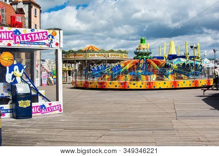 Brighton, East Sussex, Uk - June 21 : Fairground In Brighton Pier In East Sussex On June 21, 2019