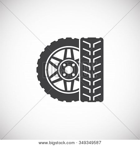 Car Tuning Related Icon On Background For Graphic And Web Design. Creative Illustration Concept Symb