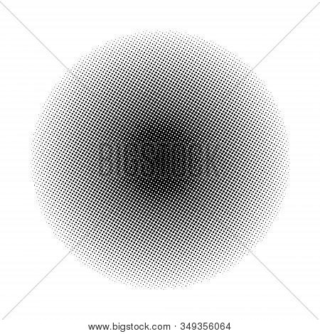 Abstract Dotted. Dotted Background. Halftone Circles. Radial Dots