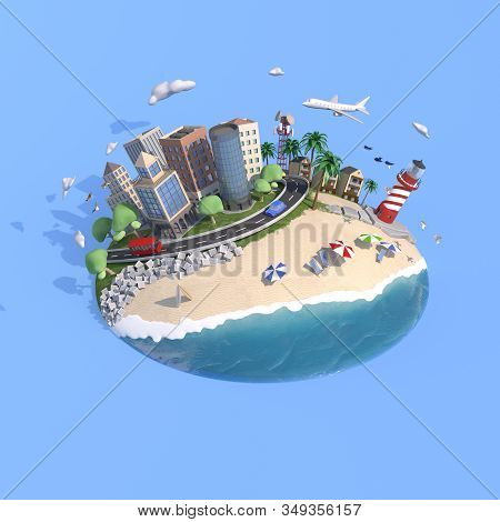 3d Rendering Concept Art Island For Lifestyle