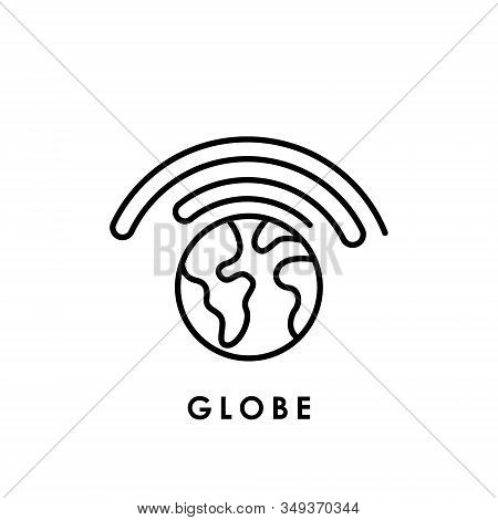 World Globe. Globe icon. Globe vector. Globe icon vector. Globe logo. Globe symbol. Globe with signal icon. World vector. Globe icon isolated on white background. World globe vector icon modern and simple flat symbol for website, mobile, logo, app, UI.