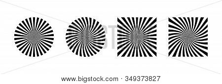 Rays Beam Vector Element Isolated. Rays Striped Patterns. Graphic Design Geometric Shape. Vintage Su