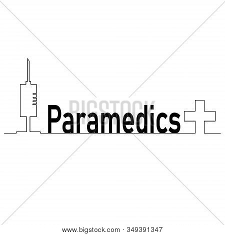 Paramedic Medical Design Is An Illustration Of An Emergency Paramedic Design With Star Of Life Medic