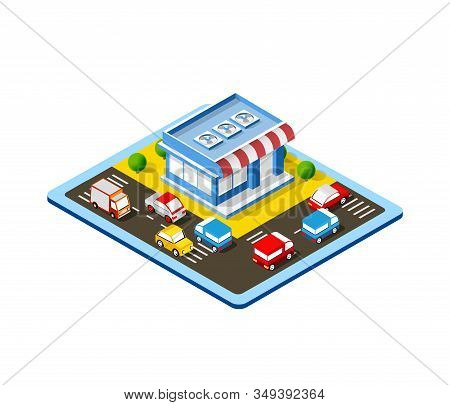 Isometric Colorful 3d Shop Of Stock Illustration