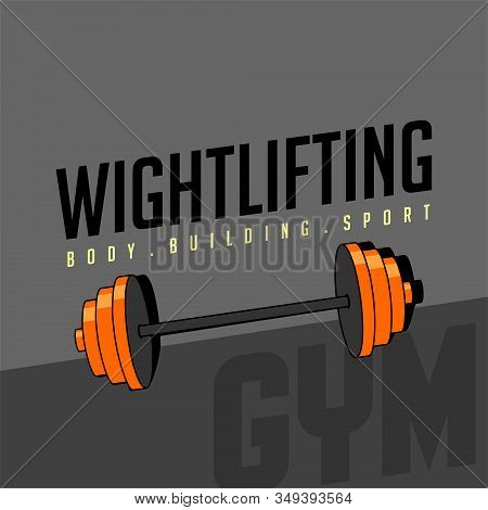 Weightlifting, Body Building Sport Vector Design, Weightlifting Background, Weightlifting Template D