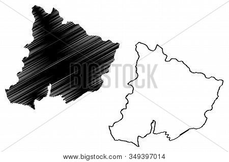 Pomoravlje District (republic Of Serbia, Districts In Sumadija And Western Serbia) Map Vector Illust