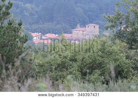 May. 27, 2015; Larrabetzu, Bizkaia (basque Country). Larrabetzu Is A Beautiful Village Located In Th