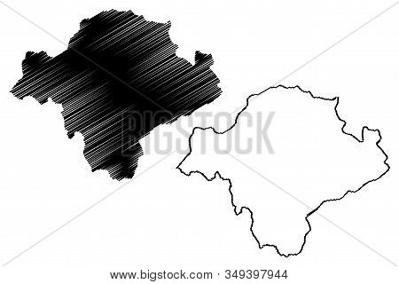 Toplica District (republic Of Serbia, Districts In Southern And Eastern Serbia) Map Vector Illustrat