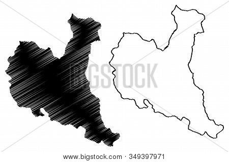 Zajecar District (republic Of Serbia, Districts In Southern And Eastern Serbia) Map Vector Illustrat