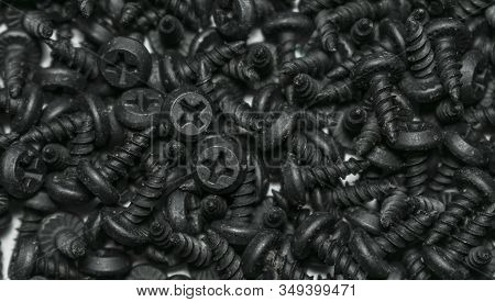 Self-tapping Screw For Construction Work, Self-tapping Screw, As A Background