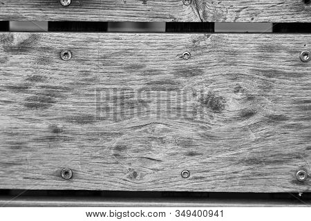 Old Wood Texture With The Screws On The Floor