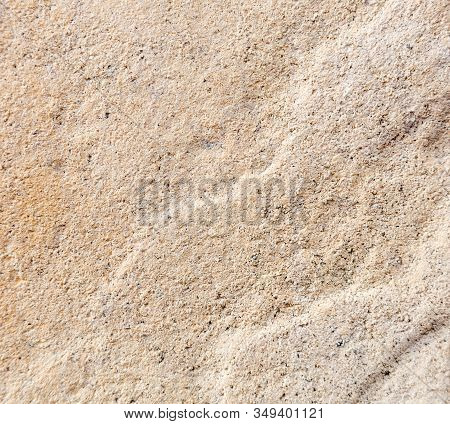 White Texture Of Plaster Grain On The Wall