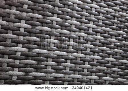 Synthetic Rattan Texture Weaving Background Black Flat