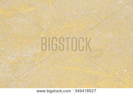 Texture Of Translucent Tracing Paper With Projected Gold Powder For Background, Decoration Or Design