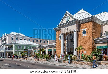 Nassau, Bahamas - February 18, 2018: Nassau Is The Capital Of The Bahamas And The Center Of Tourism.