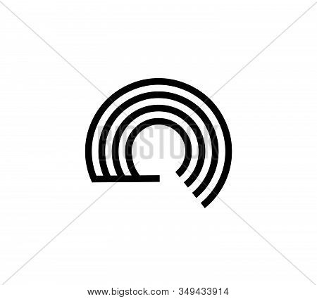 Simple Initials C, Cc, Gc, Cg Geometric Network Line And Digital Data Logo