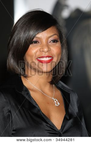 HOLLYWOOD - JAN 11:  Taraji Henson attends The Book of Eli premiere on January 11 2010 at Grauman's Chinese Theater in Hollywood, California.