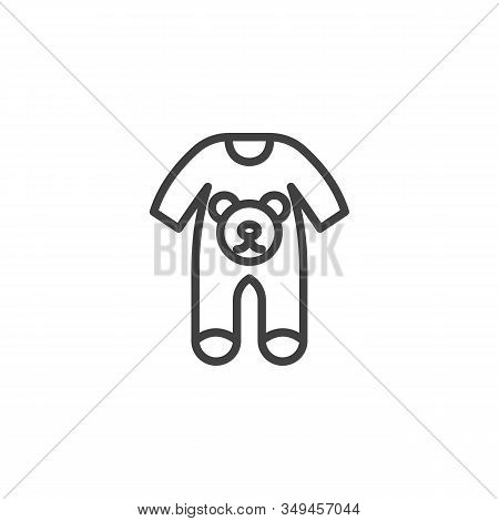 Baby Clothes Bodysuit Line Icon. Jumpsuit Romper Linear Style Sign For Mobile Concept And Web Design
