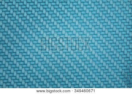 Blue Carbon Fiber Texture Background. Blue Textile Background