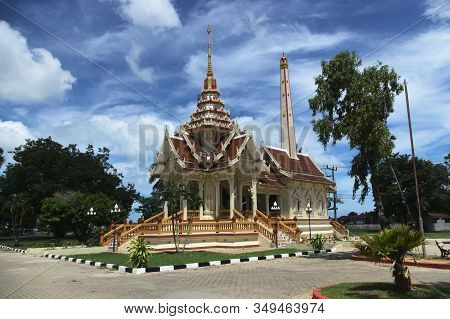 Crematorium In The Temple Of Wat Chalong In Phuket Thailand