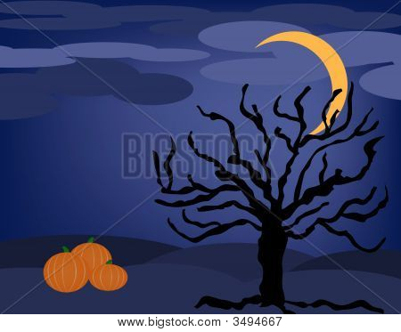 Halloween Night Tree