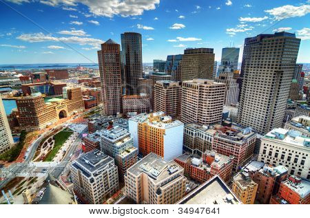 Buildings in downtown Boston Massachusetts