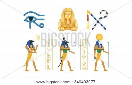 Traditional Cultural And Historical Symbols Of Egypt Collection, Ancient Egyptian Deities, Eye Of Ho