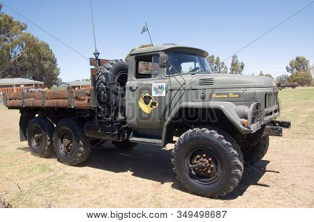 Bloemfontein, South Africa - November 1, 2008: A Zil-131 3.5 Ton 6x6 Truck From The Ussr At An Open